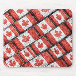 Tapis De Souris Motif canadien de motif de drapeau