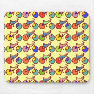 Tapis De Souris motif coloré de vélos