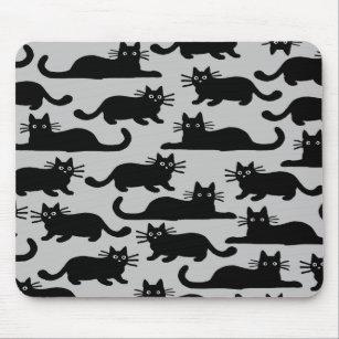 tapis de souris chat noir. Black Bedroom Furniture Sets. Home Design Ideas