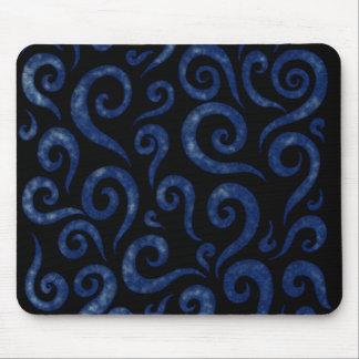 Tapis De Souris Motif de remous de bleu