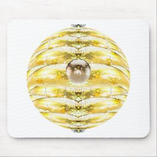Tapis De Souris Motif de ruche d'abeille de boule de disco