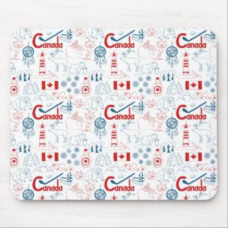 Tapis De Souris Motif de symboles du Canada |