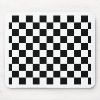 Tapis De Souris motif d'échiquier noir et blanc