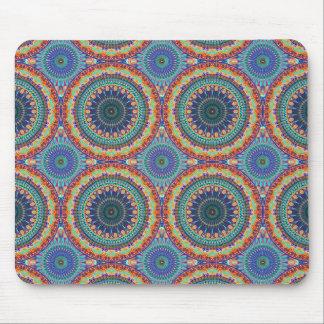 Tapis de souris mandala color personnalis s - Tapis ethnique colore ...