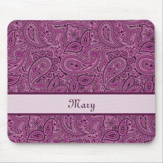 Tapis De Souris Motif floral pourpre élégant de Paisley avec le