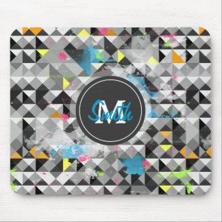 Tapis De Souris Motif géométrique à la mode frais de triangles de