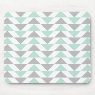 Tapis De Souris Motif géométrique de blanc gris de vert de menthe