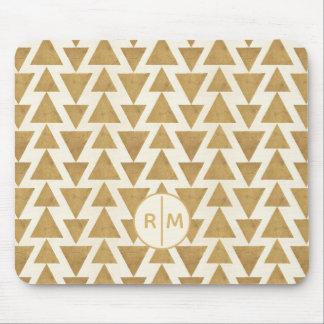 Tapis De Souris Motif géométrique de Geo d'or extérieur d'étape |