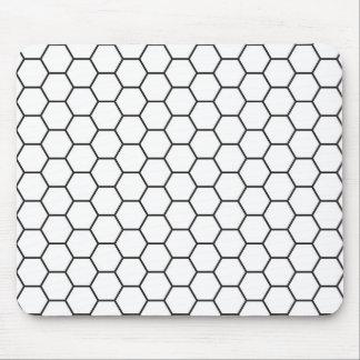 Tapis De Souris Motif géométrique d'hexagone noir et blanc
