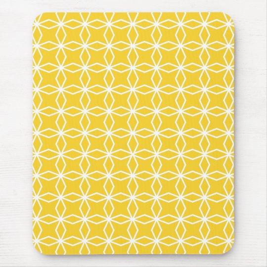 tapis de souris motif g om trique jaune ensoleill. Black Bedroom Furniture Sets. Home Design Ideas