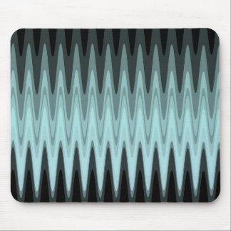 Tapis De Souris Motif gris turquoise noir de zigzag