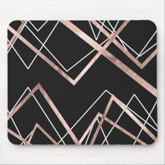 Tapis De Souris Motif linéaire d'abrégé sur triangle de noir rose