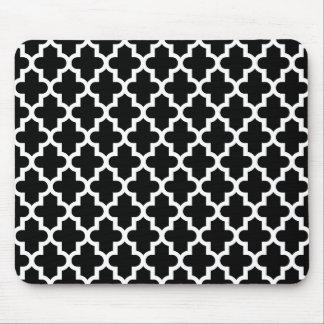 Tapis De Souris Motif marocain moderne noir et blanc