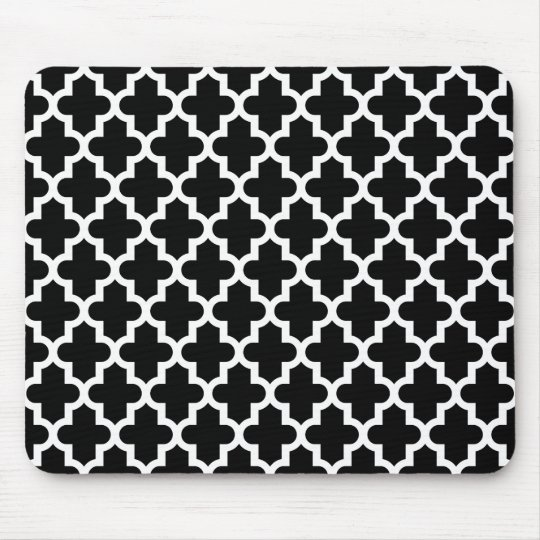 tapis de souris motif marocain moderne noir et blanc. Black Bedroom Furniture Sets. Home Design Ideas