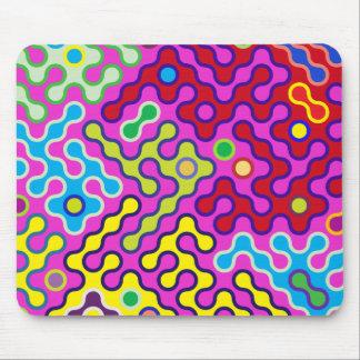 Tapis De Souris Motif psychédélique abstrait coloré d'art de bruit