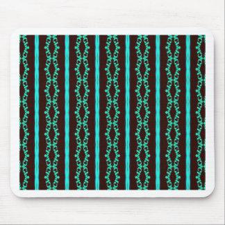 Tapis De Souris Motif rayé turquoise au néon moderne