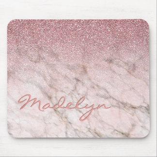 Tapis De Souris Motif rose de marbre gris blanc de parties