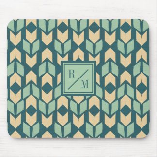Tapis De Souris Motif turquoise géométrique extérieur de flèche