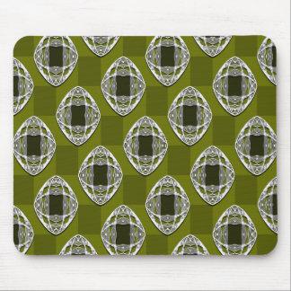 Tapis De Souris Motif vérifié par Nouveau olive de vert