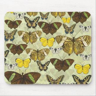 Tapis De Souris Motif vintage de diagramme de mite de papillon