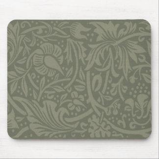 Tapis De Souris Motif vintage floral doucement vert de William