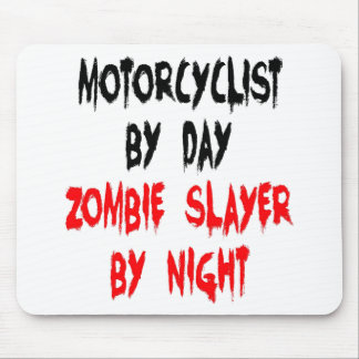 Tapis De Souris Motocycliste de tueur de zombi