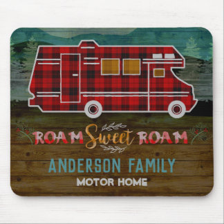 Tapis De Souris Motorhome rv Camper Travel Van Rustic Personalized