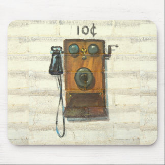 Tapis De Souris mousepad antique de téléphone de mur