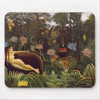 Tapis De Souris Mousepad avec la peinture rêveuse de Henri Rouseau
