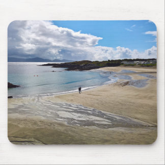 Tapis De Souris Mousepad : Belle plage avec le ciel bleu ;