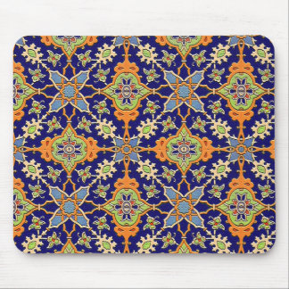 Tapis De Souris Mousepad bleu et orange élégant
