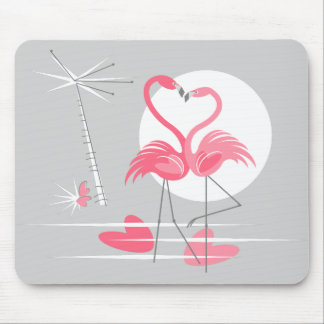 Tapis De Souris Mousepad d'amour de flamant horizontal