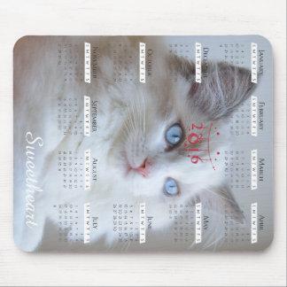 Tapis De Souris Mousepad de Boris SugarPuffs avec le calendrier