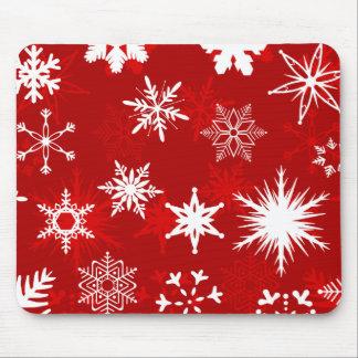 Tapis De Souris Mousepad de flocons de neige de Noël