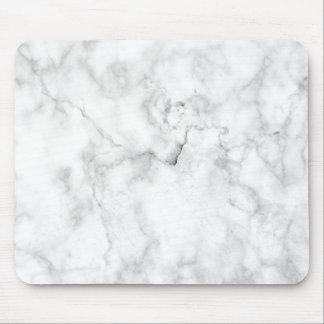 Tapis De Souris Mousepad de marbre blanc minimaliste