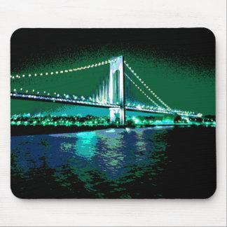 Tapis De Souris Mousepad de pont de verts et de bleus