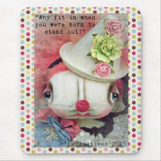 Tapis De Souris Mousepad de poupée de clown de Grimitives par Kaf