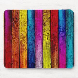 Tapis De Souris Mousepad en bois coloré