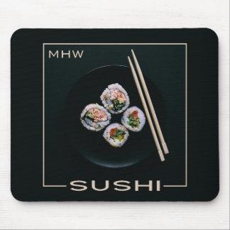 Tapis De Souris Mousepad fait sur commande de monogramme de sushi