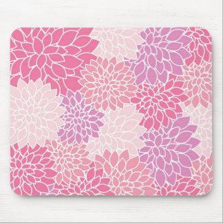 Tapis De Souris Mousepad imprimé floral rose
