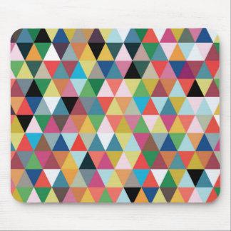 Tapis De Souris Mousepad modelé par triangle géométrique colorée