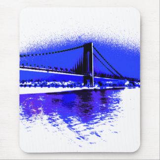 Tapis De Souris Mousepad violet de pont de Verrazano
