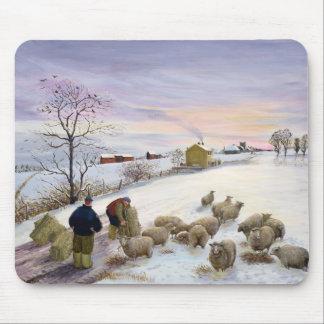 Tapis De Souris Moutons de alimentation en hiver