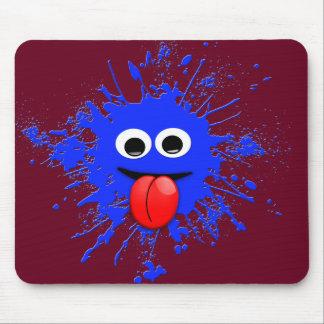 Tapis De Souris Mouvement d'Emoji tamponnant la conception bleue