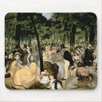 Tapis De Souris Musique de Manet | dans les jardins de Tuileries,