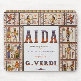 Tapis De Souris Musique vintage d'opéra, Egyptien Aida par Verdi