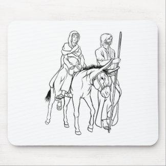Tapis De Souris Nativité Mary et illustration de Noël de Joseph