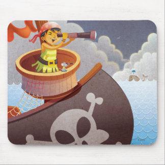 Tapis De Souris Navigation avec des pirates