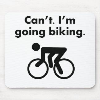 Tapis De Souris Ne peux pas je suis faire du vélo allant