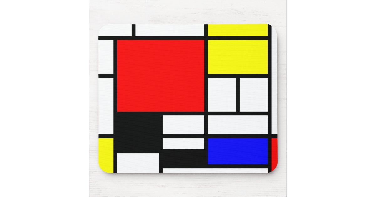 tapis de souris n o plasticism style de mondrian. Black Bedroom Furniture Sets. Home Design Ideas
